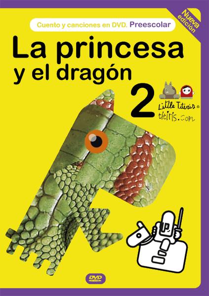 dvd cuento interactivo infantil la princesa y el dragón